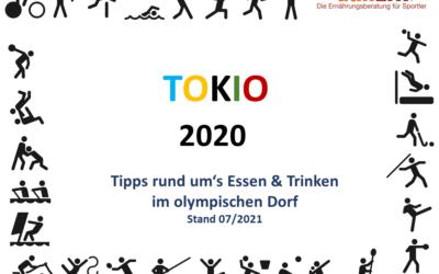 Tokio 2020 – Essen und Trinken im olympischen Dorf
